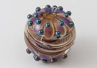 Silver Glass Dahlia Focal Bead alternative view 1