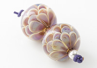 Purple Lampwork Dahlia Beads alternative view 2