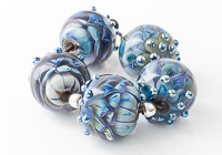 Blue and Purple Dahlia Beads
