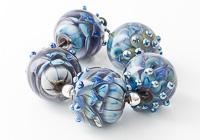 Blue and Purple Dahlia Beads