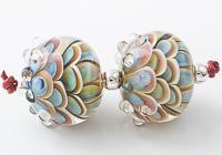 Raindrop Lampwork Dahlia Beads