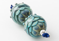 Turquoise Lampwork Dahlia Beads alternative view 1