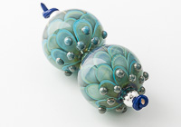 Turquoise Lampwork Dahlia Beads alternative view 2