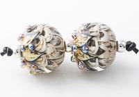 Mottled Lampwork Dahlia Beads