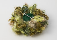 Green Fluffy Flower Brooch alternative view 1