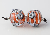 Lampwork Swirly Bead Pair