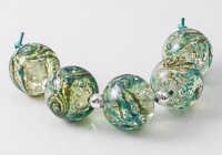 Green and Turquoise Jewel Lampwork Beads
