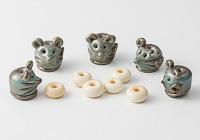 Mice Lampwork Beads
