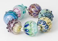 Lampwork Dalhia Beads