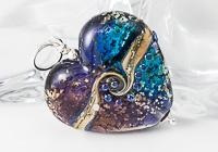 Glittery Heart Lampwork Pendant