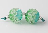 Tranquil Lampwork Dahlia Beads