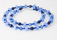 Blue Lampwork Necklace