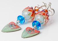 Red Lampwork Earrings