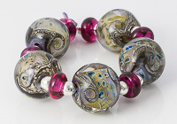 Pinky Yellow Lampwork Beads