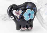 Black Lampwork Elephant Bead