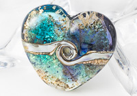 Sparkly Heart Lampwork Bead
