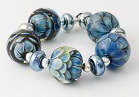 Silver Glass Dahlia Beads
