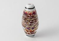 Large Dahlia Lampwork Bicone Bead