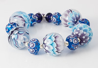 Purple and Turquoise Dahlia Beads