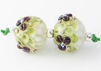 Flowery Lampwork Dahlia Beads