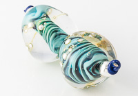 Turquoise Lampwork Nugget Beads alternative view 2