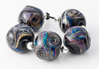 Oil Slick Lampwork Nugget Beads