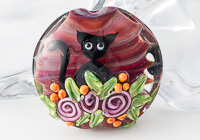 """Garden Kitty"" Lampwork Bead"