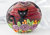 """Garden Kitty"" Lampwork Bead alternative view 1"