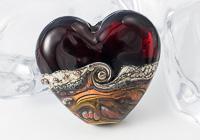Amber Heart Lampwork Bead