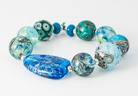 Teal Lampwork Bead Collection