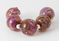 Silver Glass Swirl Lampwork Beads
