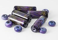 Purple Tube Lampwork Beads