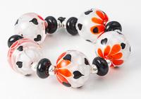 Heart Dahlia Lampwork Beads