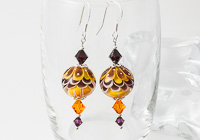 Golden Yellow Lampwork Earrings alternative view 1