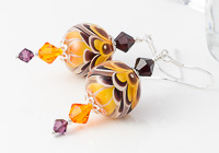 Golden Yellow Lampwork Earrings