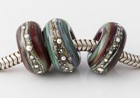 Earthy Lampwork Charm Beads