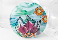 Flowery Focal Lampwork Bead