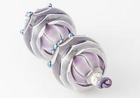 Purple Dahlia Lampwork Beads alternative view 1