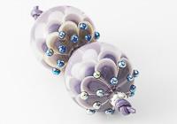 Purple Dahlia Lampwork Beads alternative view 2