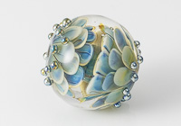 Large Silver Glass Dahlia Bead