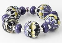 Purple Lampwork Dahlia Beads