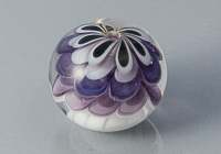 Large Purple Lampwork Dahlia Bead