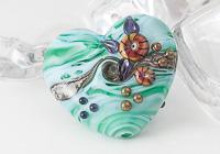 Turquoise Heart Lampwork Bead