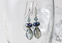 Sparkly Blue Silver Earrings alternative view 1