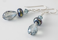 Sparkly Blue Silver Earrings alternative view 2