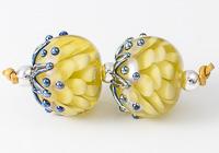 Dark Yellow Dahlia Lampwork Beads