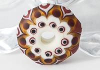 Amber Lampwork Wheel Pendant