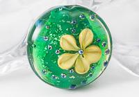 Pistachio Lampwork Flower Bead