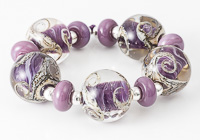Purple Swirl Lampwork Beads