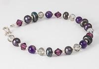 Purple Lampwork Bracelet alternative view 1